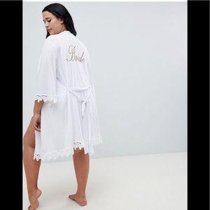 ASOS BRIDAL Bride White Robe